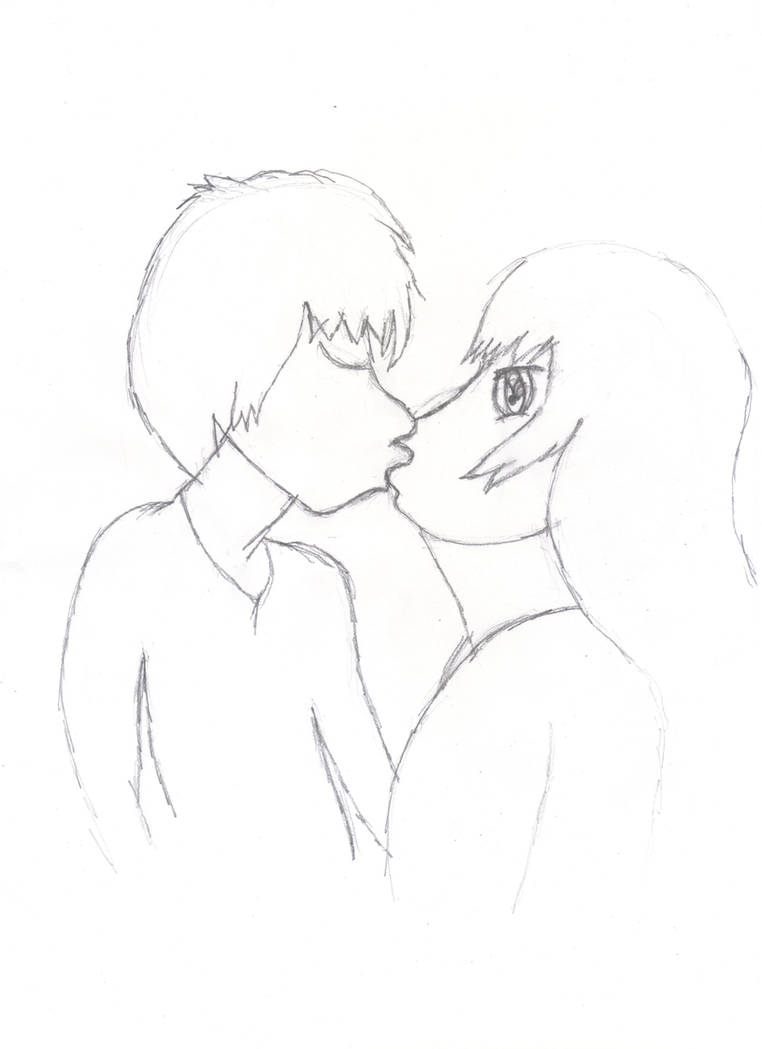 Two people kissing by tallis1990 on deviantart