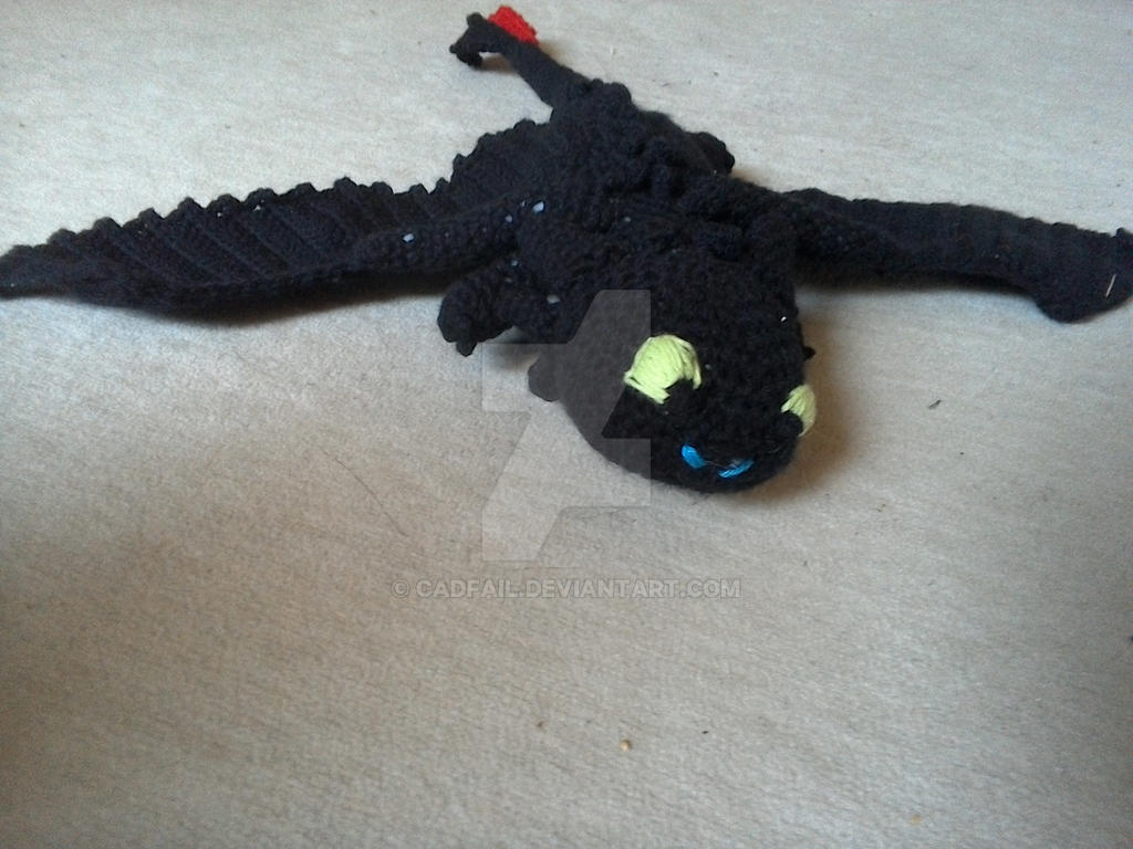 Crochet Toothless 2nd Film Frontal View By Cadfail On Deviantart