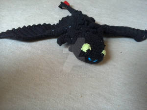 Crochet Toothless 2nd Film frontal view