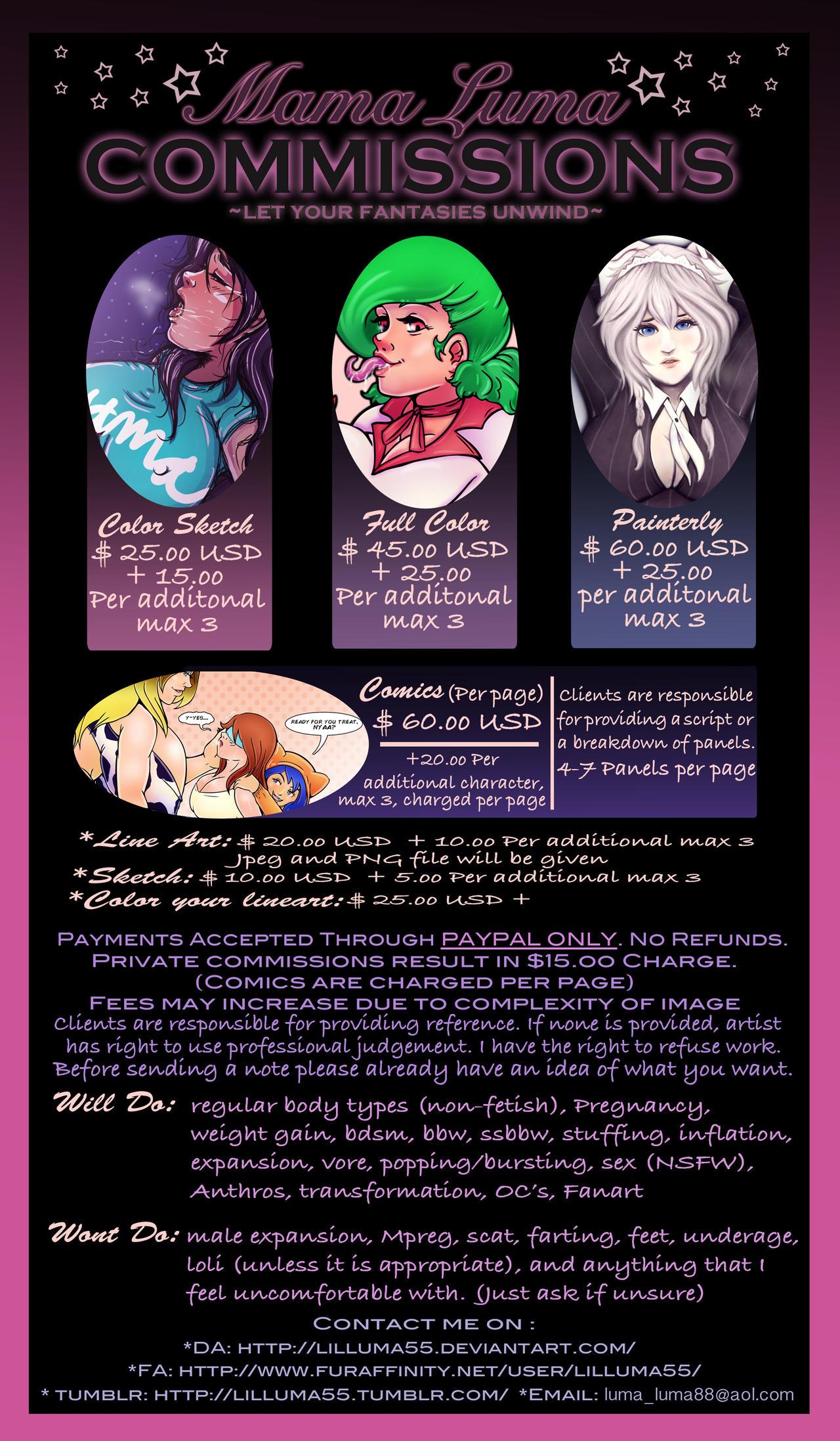 (NEW) Mama Luma Commission Info Sheet~ by MamaLuma