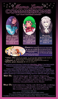 (NEW) Mama Luma Commission Info Sheet~