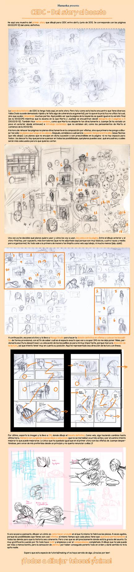[Tutorial/Making of] [CEDC] Del story al boceto. by hanaoka-a