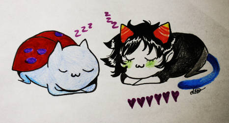 Lil Catbug And Lil Nepeta by bageI