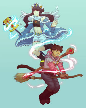 the priestess and the wizard