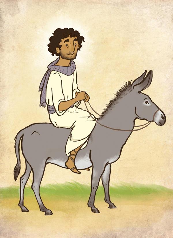 clipart jesus on donkey - photo #26