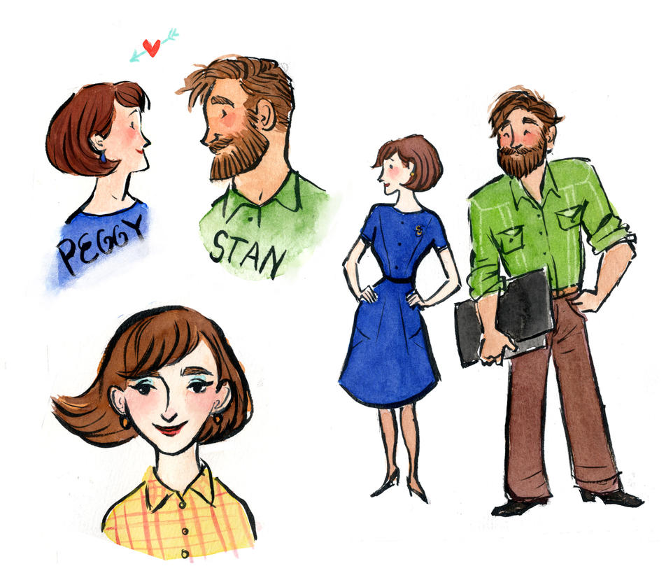 Peggy and Stan by aberry89