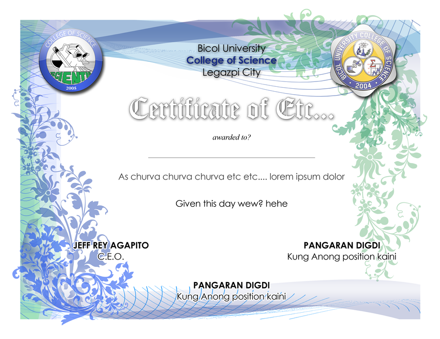 Certificate Designs Templates