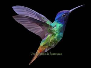 colorful humming bird polygonal style