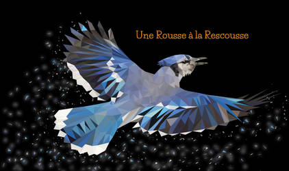 blue jay - geai bleu low poly by RousseRescousse