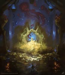 Underwater treasure room by DamienDed