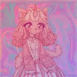 cute girl in pink | request