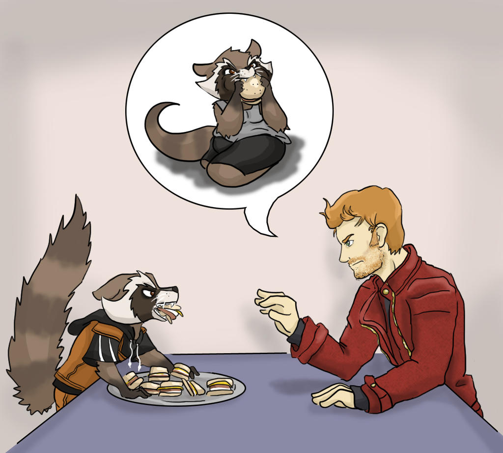 Star Lord And Rocket Raccoon By Timothygreenii On Deviantart: Chubby Rocket2.0 By Trying2FanFiction On DeviantArt