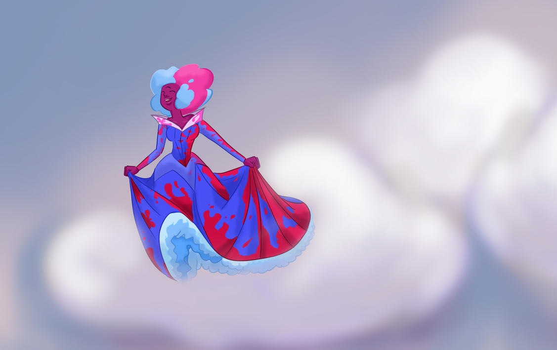 Garnet in Sleeping beauty dress by Trying2FanFiction