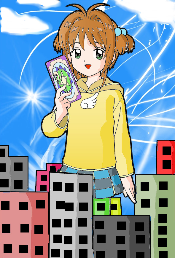 - giantess sakura - by kilaa0007