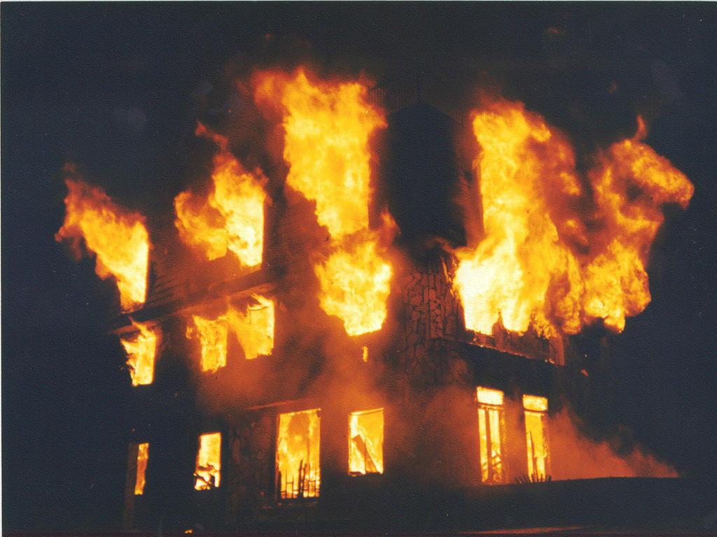 Building Burned Down In London
