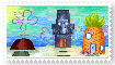 Spongebob Stamp Houses by RougeSulfura