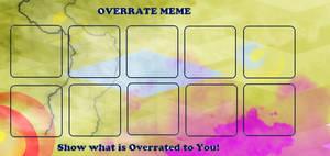 Overrate Meme Blank