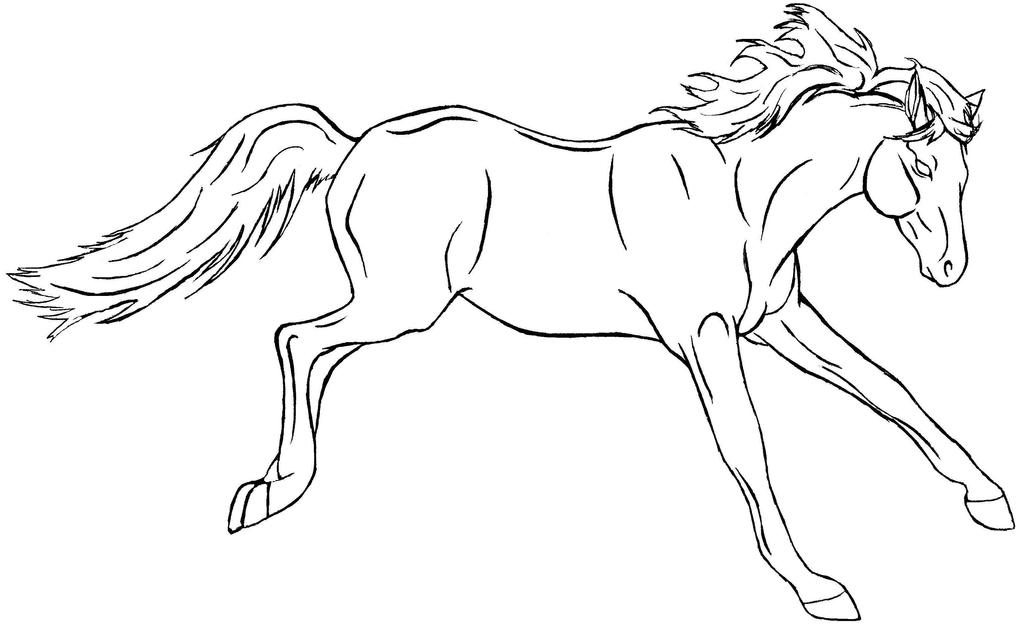 Line Art Horse : Free horse lineart by gregorytheguitar on deviantart