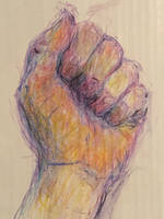 Clenched hand by hundredsand