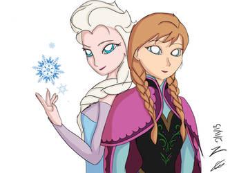 Disney's Frozen Elsa and Anna
