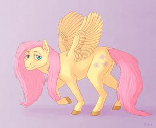 Fluttershy by DragonHeartWolf