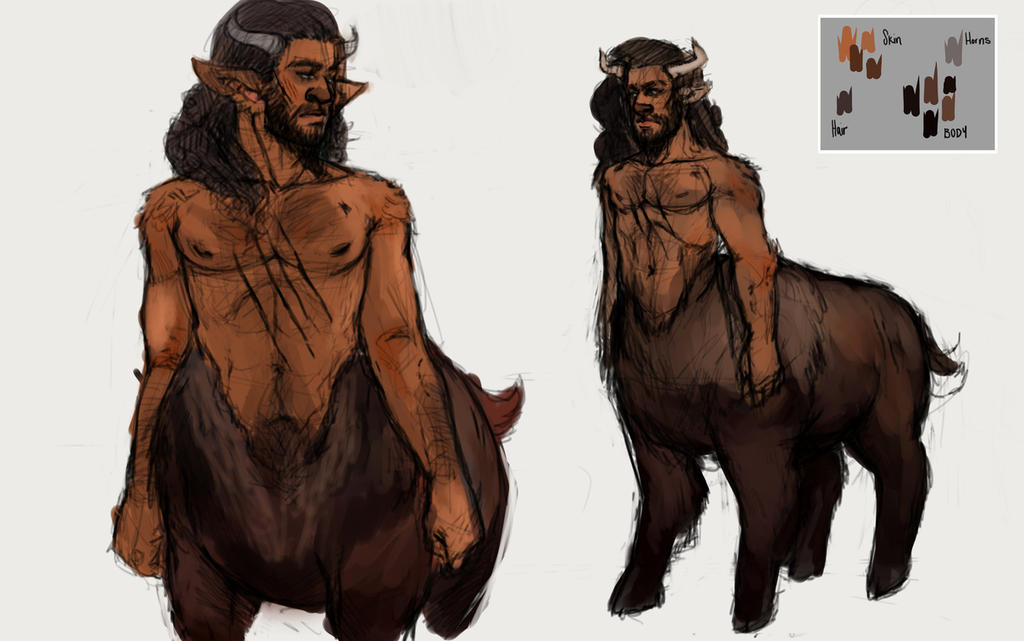 Comm2014 - Bisontaur reference by MohawkRainbow