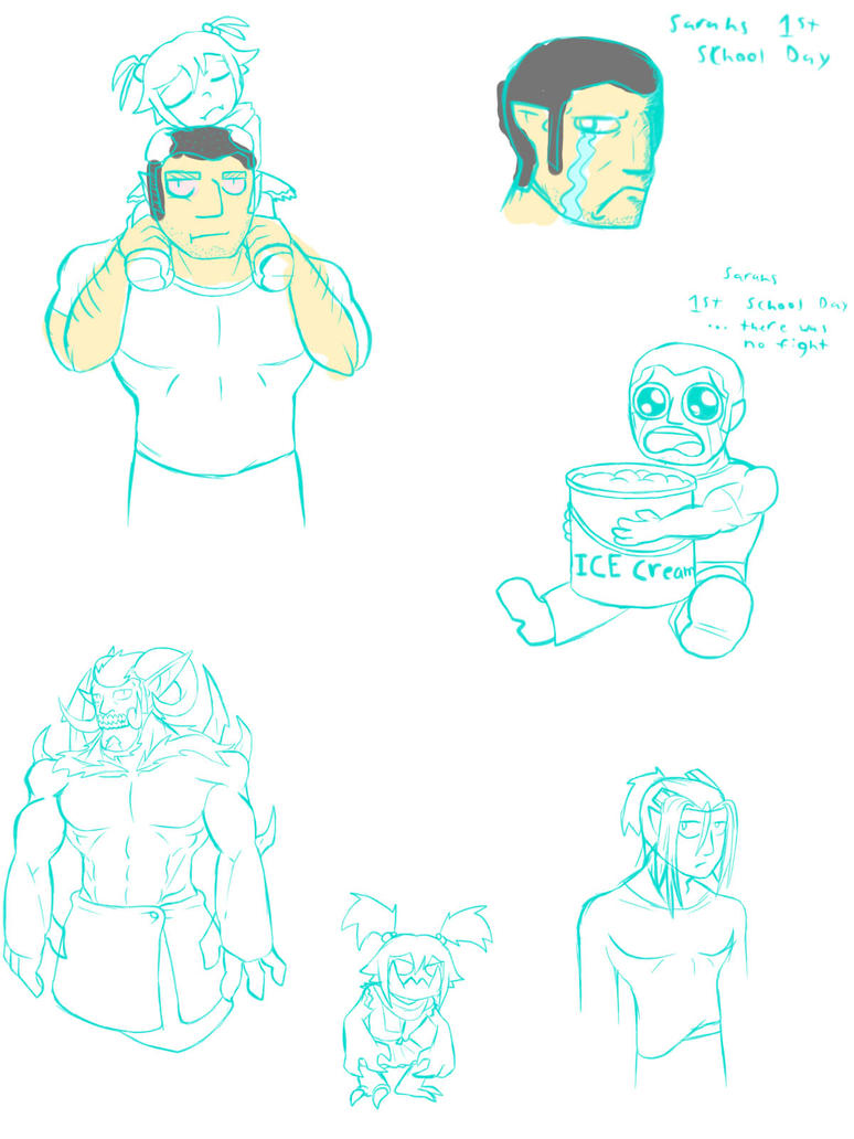 Barton family doodles by numb-erz
