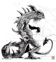 Inked Dragon by drakhenliche