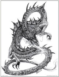 .Stippled Dragon. by drakhenliche