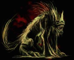 hell hound by drakhenliche