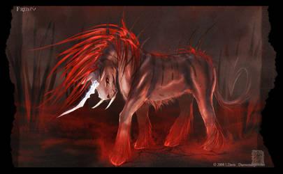 Dire Unicorn. Frenzy by drakhenliche