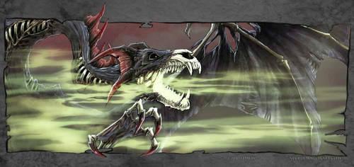 Necrodragon by drakhenliche