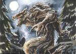 ACEO werewolf by drakhenliche