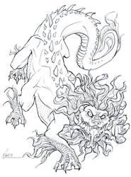 Soul Eater. Line art by drakhenliche