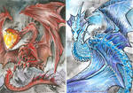 Dragon ATCs by drakhenliche