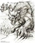 Werewolf, inks.