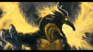 Commish. Feral Dragon Cyfan