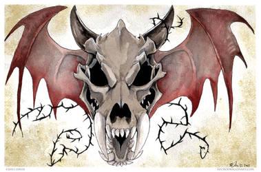 Dragon Skull by drakhenliche