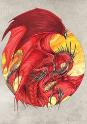 Circle Dragon. Red by drakhenliche