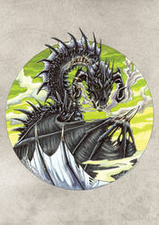 Circle Dragon. Black by drakhenliche