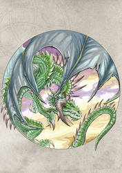 Circle Dragon. Green by drakhenliche