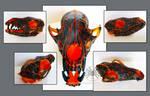 Hot Lava Java (Painted Fox Skull)