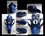 Eyeball Blues (Painted Fox Skull)