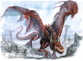 Watercolour Sketchy Dragon by drakhenliche