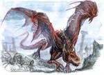 Watercolour Sketchy Dragon