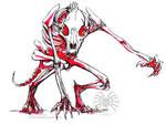 Ink Werewolf Skeleton