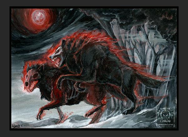 Winter Wolves by drakhenliche