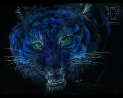 Glowy Tiger by drakhenliche