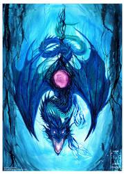 Electric Blue Dragon by drakhenliche