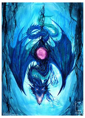 Electric Blue Dragon